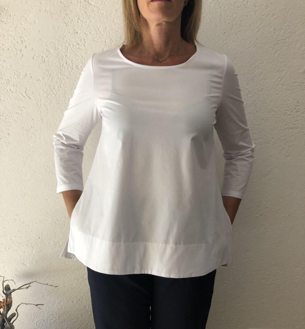Camicia NAM bianco particolare - davanti