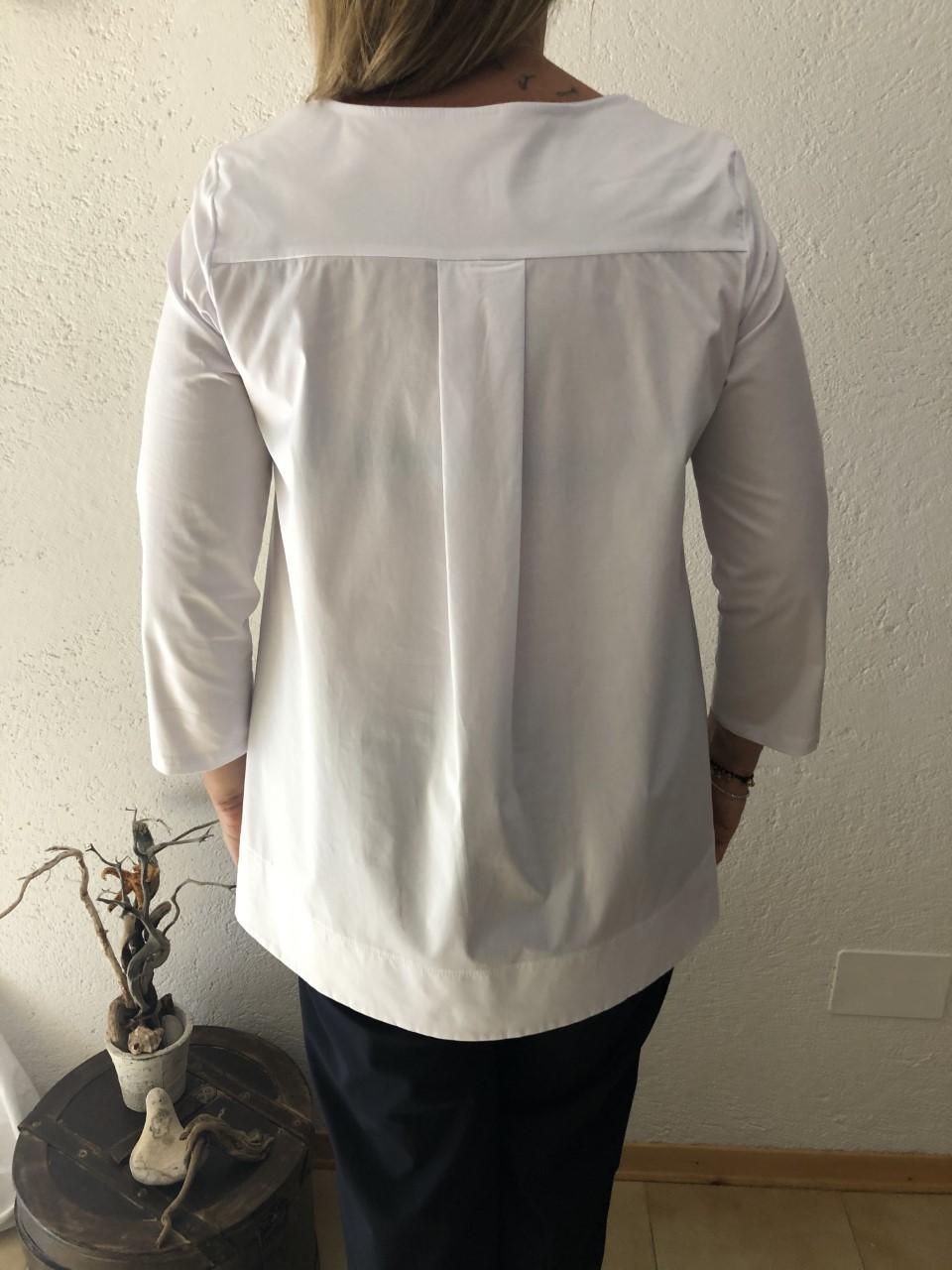 Camicia NAM bianco particolare - dietro