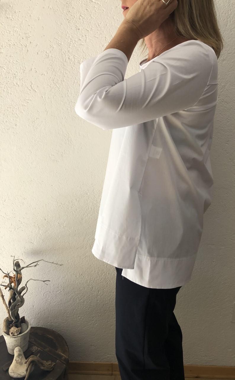 Camicia NAM bianco particolare - laterale