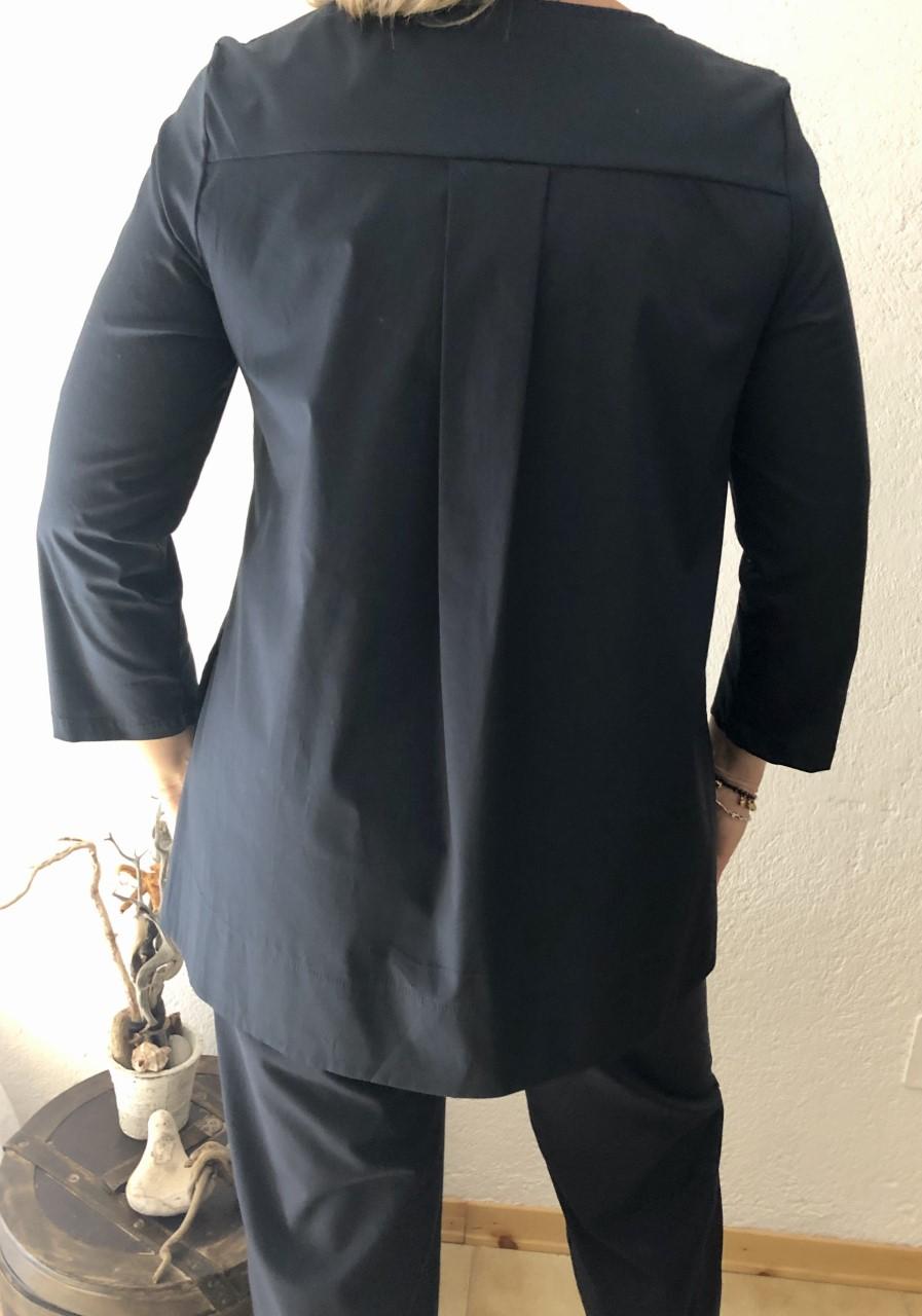 Camicia NAM blu particolare - dietro