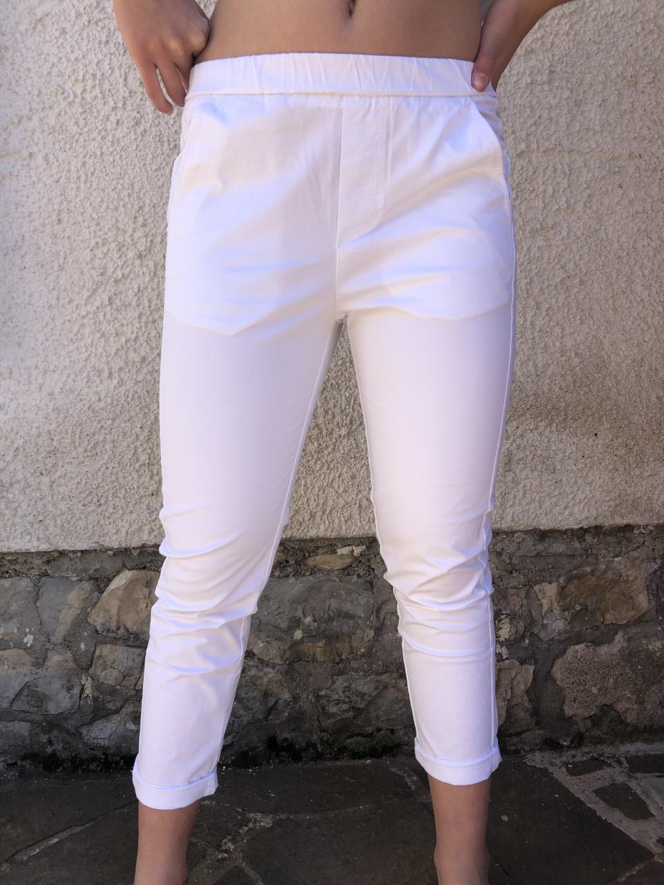 Pantalone bianco NAM particolare - davanti