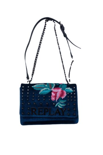 Borsa con ricamo Rose Replay